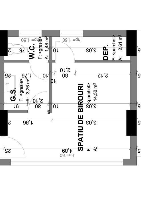 Vand spatiu birou - SAD, 22 mp, bloc nou parter, str.Lidia, 35000eur