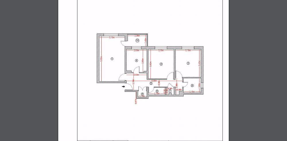 Ap. 3 camere Sebastian BRD - Mall Liberty Center Loc de parcare