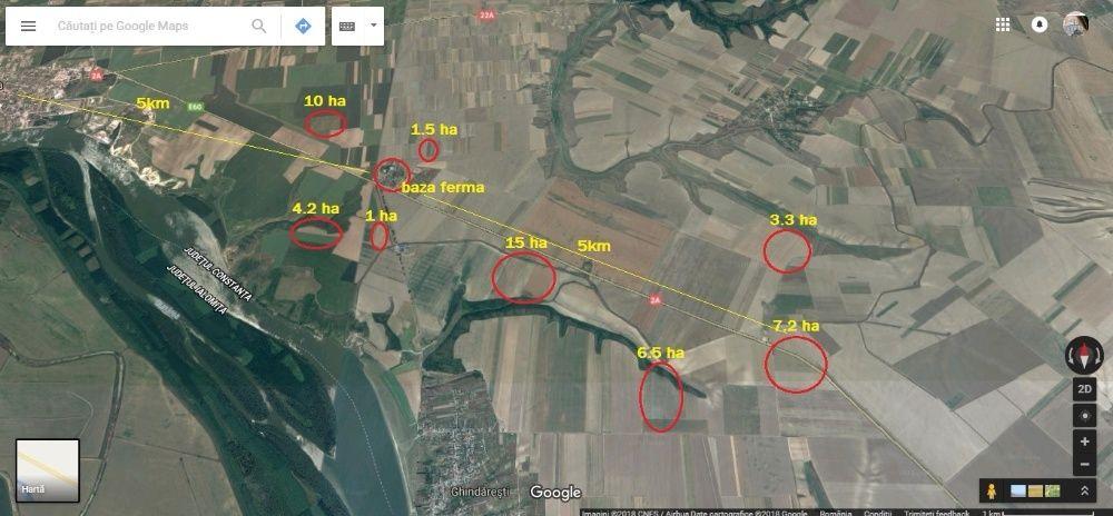 Vand ferma agricola in Harsova, judetul Constanta PROPRIETATE
