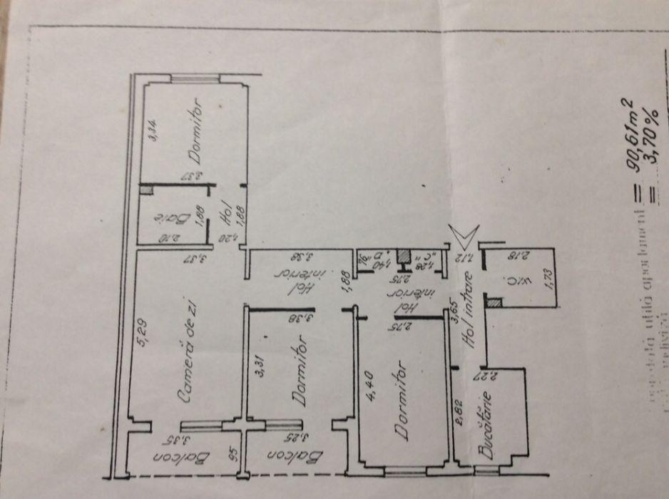 Apartament 4 camere, Dacia.