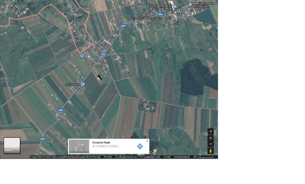Teren 500 mp intravilan + autorizatie Valea Ursului - Vorovesti