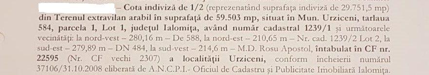 Teren extravilan arabil 30.000 mp in Urziceni la DN484 Oferta!