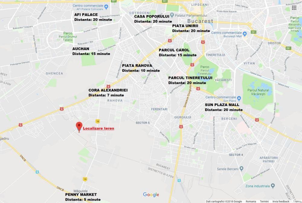 Teren de vanzare 17800mp (12EURO MP) sector 5 - Bucuresti / Magurele