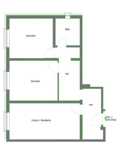 Inchiriez Ap. 2 camere N. Grigorescu (3 min. metrou și parc)