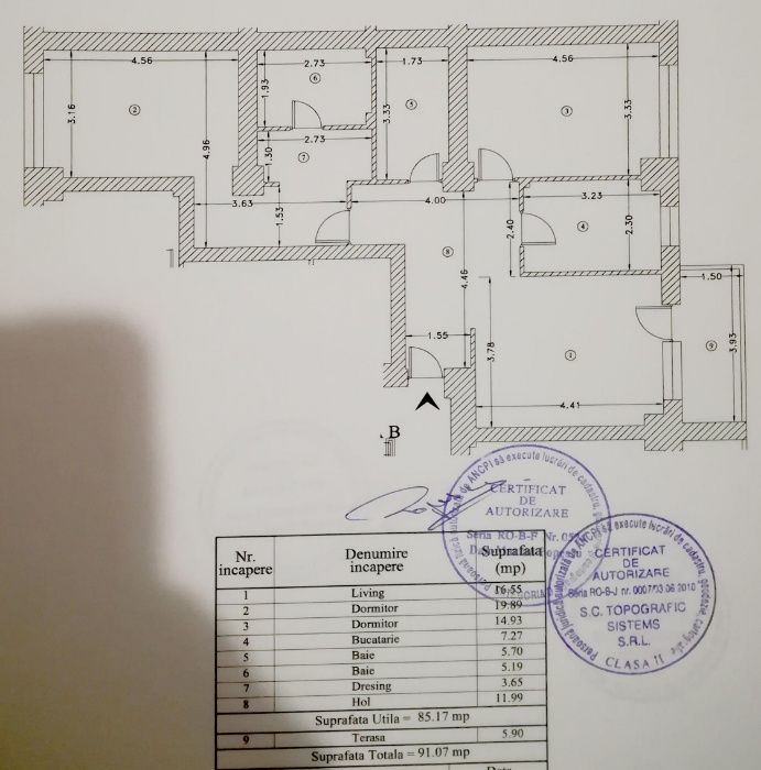 Titlu: Apartament 3 camere 85mp Confort City Vitan