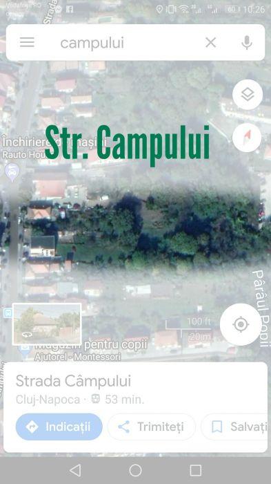 Teren 1230 mp Str. Campului Cluj-Napoca