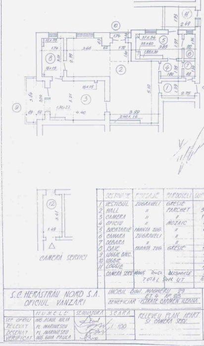 Proprietar,vand apt.3 camere,Bdul Magheru,99500euro