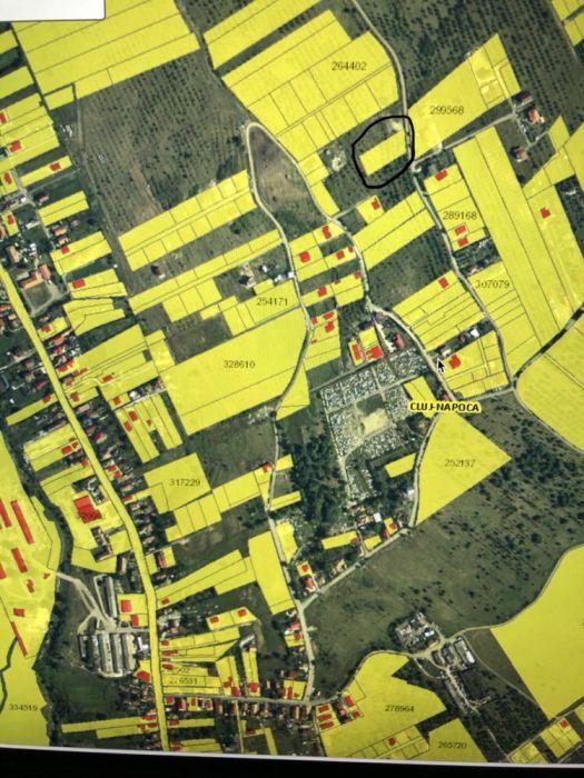 PF vand teren / parcela 2000 mp strada Pomet UAT Cluj-Napoca BTC/ETH